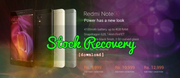 Stock MIUI Recovery Image for Redmi Note 4 Snapdragon