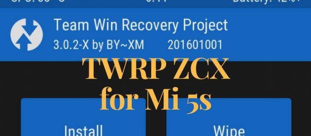 TWRP ZCX v3 0 2 Installer for Mi 5s - Android File Box