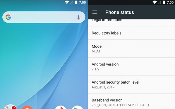 Android One v7 1 Nougat for Mi 5X (Mi A1 Ported) - Android