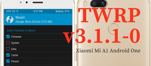 TWRP v3 1 1-0 for Xiaomi Mi A1 (Tissot) - Android File Box