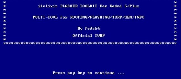 TWRP Flasher Toolkit for Redmi 5 (Rosy) and 5 Plus (Vince) - Android