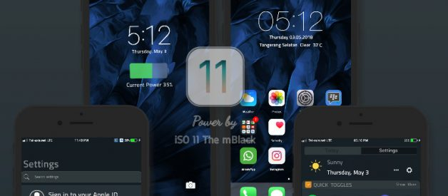 Dark iOS 11 The mBlack v12 1 1 Final Theme for MIUI 8/9