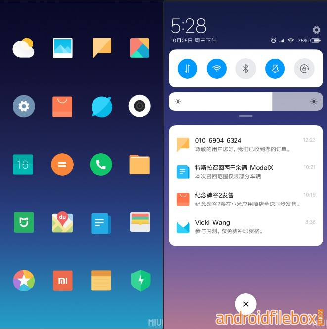 MIUI 10 Limitless Theme for MIUI 9 Devices - Android File Box